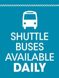 Shuttle Buses Available Daily!